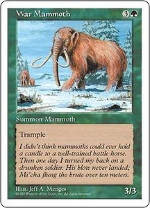 Magic the Gathering Fifth Edition Single Card Common War Mammoth