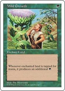 Magic the Gathering Fifth Edition Single Card Common Wild Growth