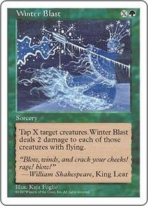 Magic the Gathering Fifth Edition Single Card Uncommon Winter Blast