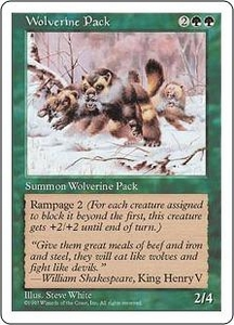 Magic the Gathering Fifth Edition Single Card Uncommon Wolverine Pack