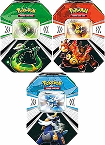 Pokemon Black & White Set of 3 Fall 2011 Evolved Battle Action Tins [Serperior, Emboar & Samurott]