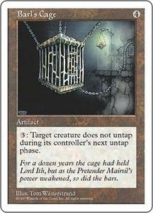Magic the Gathering Fifth Edition Single Card Rare Barl's Cage