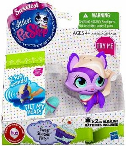 Littlest Pet Shop Sweet Snackin' Figure with Sound Coon Cat