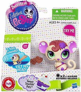 Littlest Pet Shop Pet Figure with Sound Sweet Snackin' Mouse