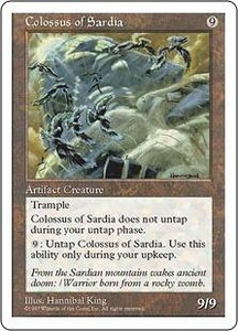 Magic the Gathering Fifth Edition Single Card Rare Colossus of Sardia
