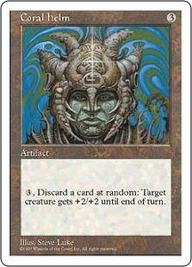 Magic the Gathering Fifth Edition Single Card Rare Coral Helm