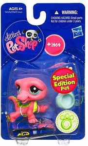 Littlest Pet Shop Get The Pets Single Figure Pink Crocodile [Special Edition Pet]