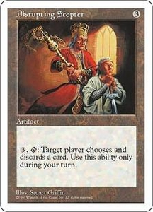 Magic the Gathering Fifth Edition Single Card Rare Disrupting Scepter