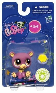 Littlest Pet Shop Get The Pets Single Figure Purple Bear