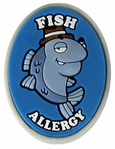Fish Allergy Alert Charm