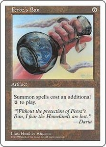 Magic the Gathering Fifth Edition Single Card Rare Feroz's Ban