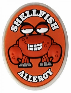 Shellfish Allergy Alert Charm