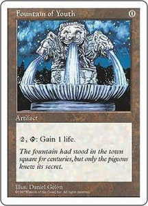 Magic the Gathering Fifth Edition Single Card Uncommon Fountain of Youth