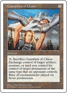 Magic the Gathering Fifth Edition Single Card Rare Gauntlets of Chaos