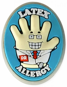 Latex Allergy Alert Charm