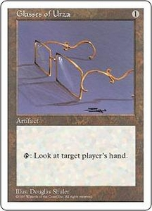 Magic the Gathering Fifth Edition Single Card Uncommon Glasses of Urza