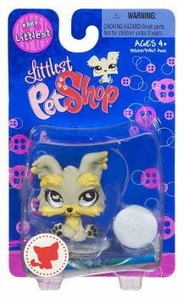 Littlest Pet Shop Littlest Single Figure Yorkie Puppy Dog with Ball