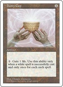 Magic the Gathering Fifth Edition Single Card Uncommon Ivory Cup