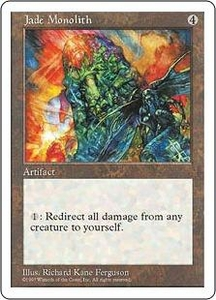 Magic the Gathering Fifth Edition Single Card Rare Jade Monolith