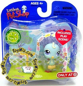 Littlest Pet Shop Exclusive Single Pack Blue Bird in Canopy with Watermelons