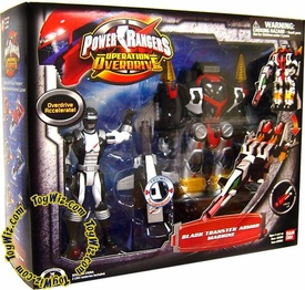 Power Rangers Operation Overdrive Black Transtek Armor All Terrain Machine with Black Ranger Action Figure