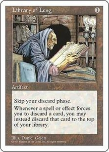 Magic the Gathering Fifth Edition Single Card Uncommon Library of Leng