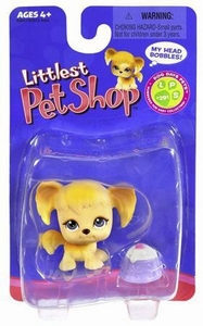 Littlest Pet Shop Single Figure Tan Mutt with Treat Dish