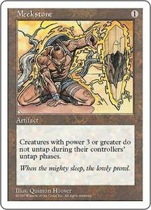 Magic the Gathering Fifth Edition Single Card Rare Meekstone