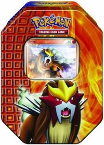 Pokemon HeartGold & SoulSilver Fall 2010 Collector Tin Set Entei