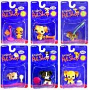 Littlest Pet Shop Set of 6 Single Figures (Includes Ferret & Guinea Pig!)