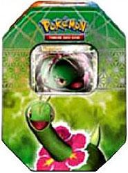 Pokemon HeartGold & SoulSilver Spring 2010 Collector Tin Set Meganium with Meganium Prime Card