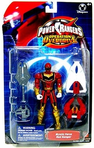 Power Rangers Operation Overdrive Exclusive Action Figure Mystic Force Red Ranger [Metallic]