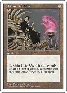 Magic the Gathering Fifth Edition Single Card Uncommon Throne of Bone