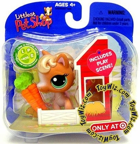 Littlest Pet Shop Exclusive Single Pack Horse in Barn with Carrots