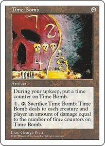 Magic the Gathering Fifth Edition Single Card Rare Time Bomb