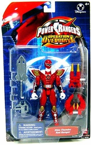 Power Rangers Operation Overdrive Exclusive Action Figure Dino Thunder Red Ranger (Metallic)