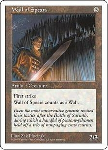 Magic the Gathering Fifth Edition Single Card Common Wall of Spears