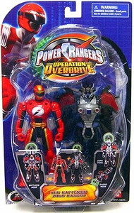 Power Rangers Operation Overdrive Action Figure Red Battlized Zord Ranger
