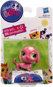 Littlest Pet Shop Single Figure Pink Dog