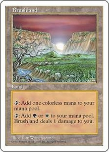 Magic the Gathering Fifth Edition Single Card Rare Brushland
