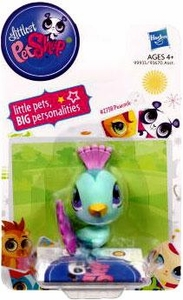 Littlest Pet Shop Single Figure Teal Peacock