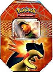 Pokemon HeartGold & SoulSilver Spring 2010 Collector Tin Set Typhlosion with Typhlosion Prime Card