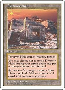 Magic the Gathering Fifth Edition Single Card Rare Dwarven Hold