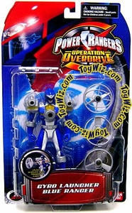 Power Rangers Operation Overdrive Action Figure Gyro Launcher Blue Ranger