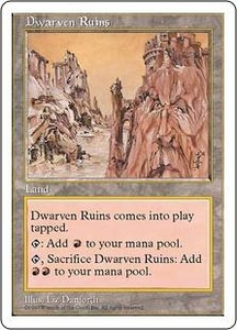 Magic the Gathering Fifth Edition Single Card Uncommon Dwarven Ruins