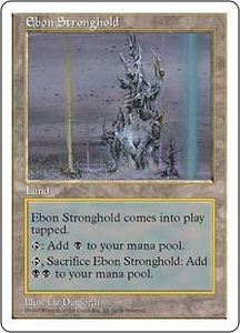 Magic the Gathering Fifth Edition Single Card Uncommon Ebon Stronghold
