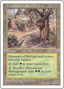 Magic the Gathering Fifth Edition Single Card Uncommon Havenwood Battleground