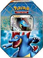 Pokemon HeartGold & SoulSilver Spring 2010 Collector Tin Set Feraligatr with Feraligatr Prime Card