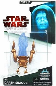 Star Wars 2009 Legacy Collection Build-A-Droid Action Figure BD No. 10 Darth Sidious Hologram on Mechano Chair