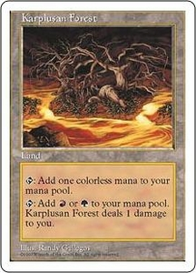 Magic the Gathering Fifth Edition Single Card Rare Karplusan Forest
